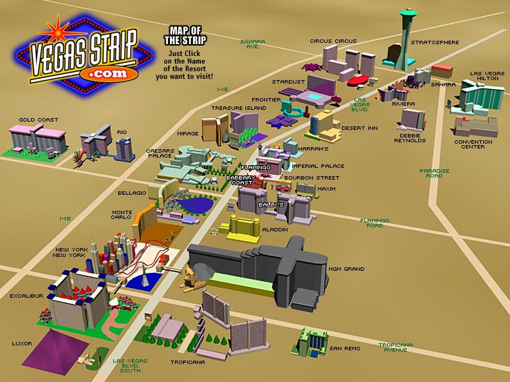 las vegas strip map printable ...