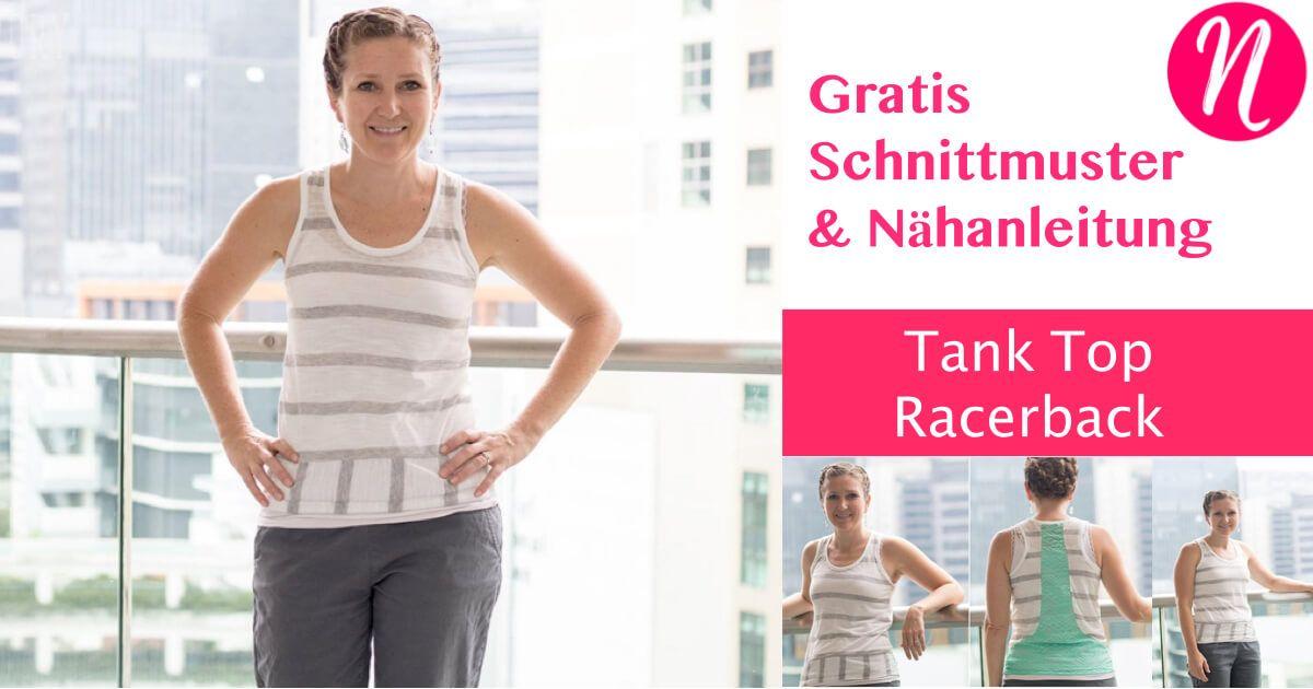 Tank Top mit Racerback für Damen | Für damen, Nähanleitung und Kostenlos