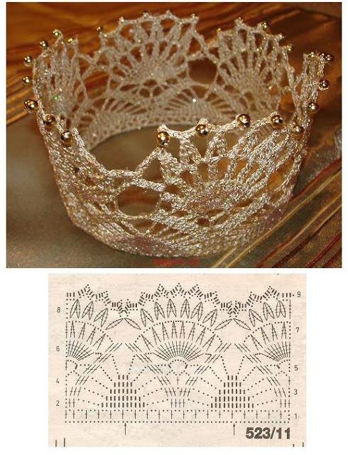Patron Crochet Corona para Fiestas | amigurumi Ganchillo | Pinterest ...