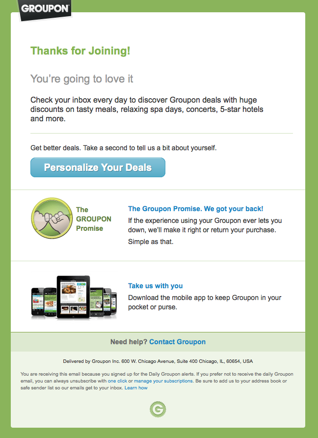 Groupon Email Design Spa Day Relax Spa