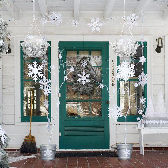 Déco Noël porte du0027entrée pour tous les gouts, 25 photos de choix