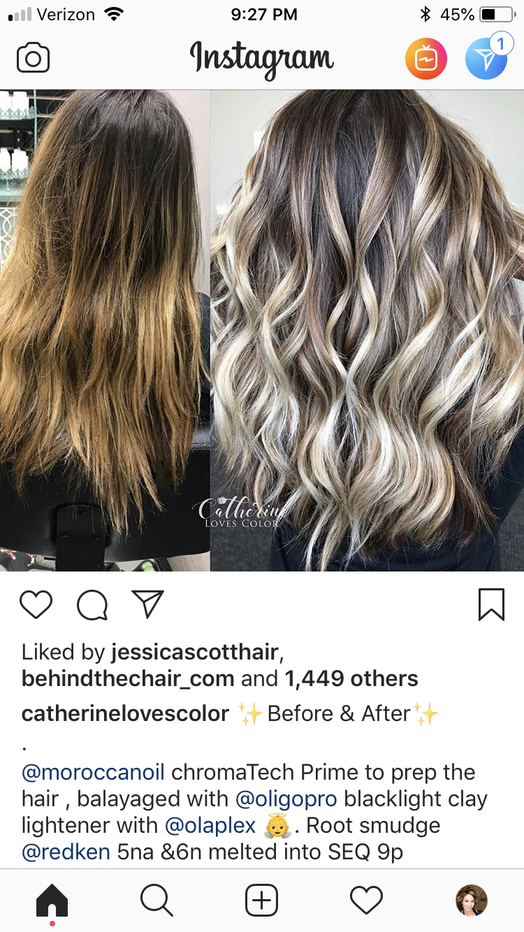 Pin By Heidi Mathews On Ombre Sombre Bayalage Root Shadow Ideas Redken Hair Color Hair Color Formulas Toning Bleached Hair