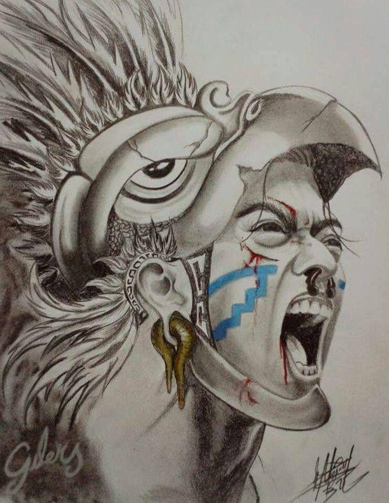 Guerrero Azteca Aguila Dibujo