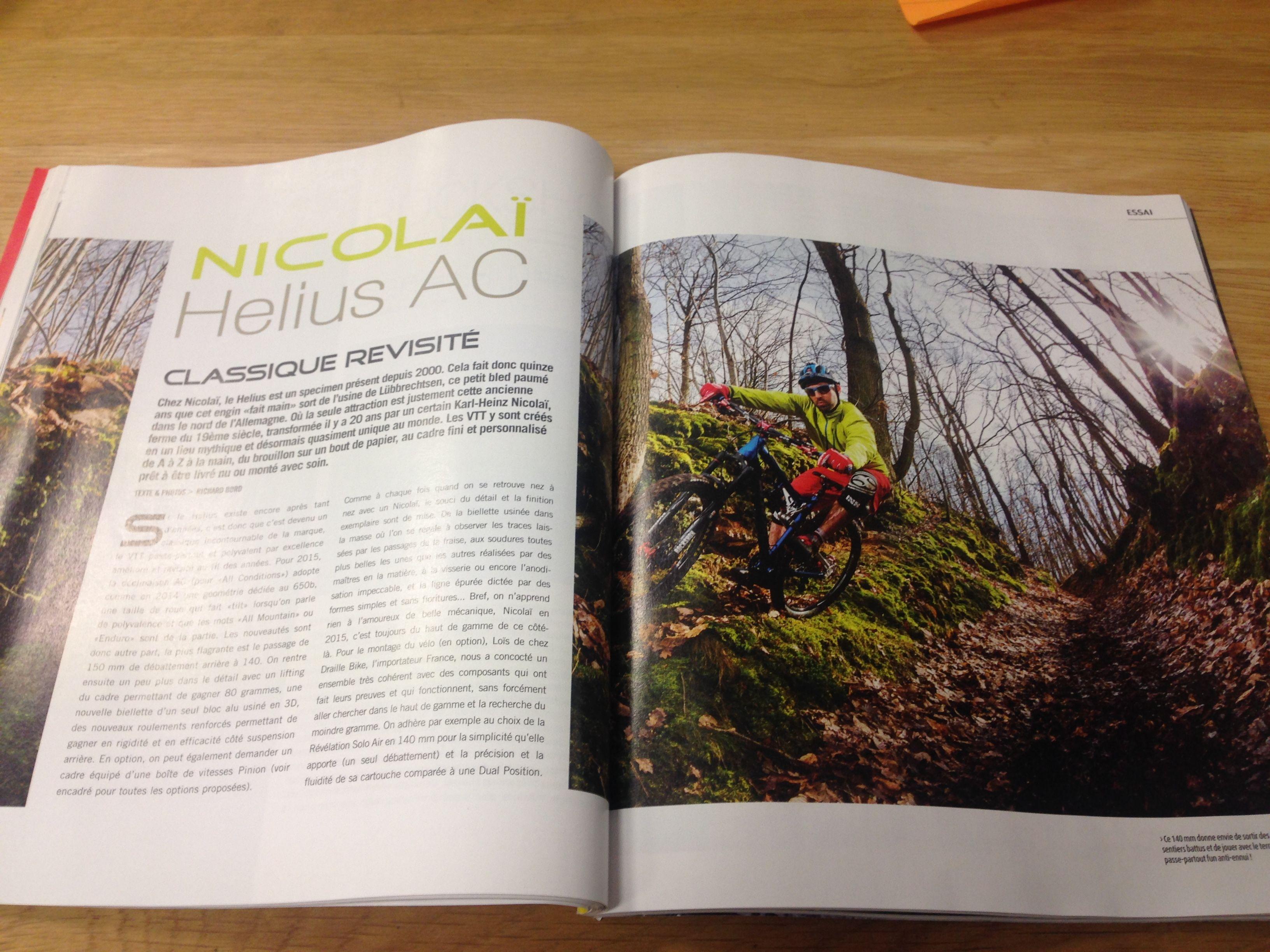 Vélo Vert Septembre 2016  #NicolaiBikes #Nicolai #HeliusAC #Velo #VTT #Bike #Test #VeloTest #BikeAndTest #CentreDeTest #paris #Yvelines …