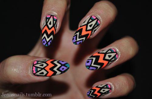 african, nail, black, colorful, color pattern, colors, cute, fashion,  designs, girl, nail art, nails, pretty, vibrant - African, Nail, Black, Colorful, Color Pattern, Colors, Cute, Fashion