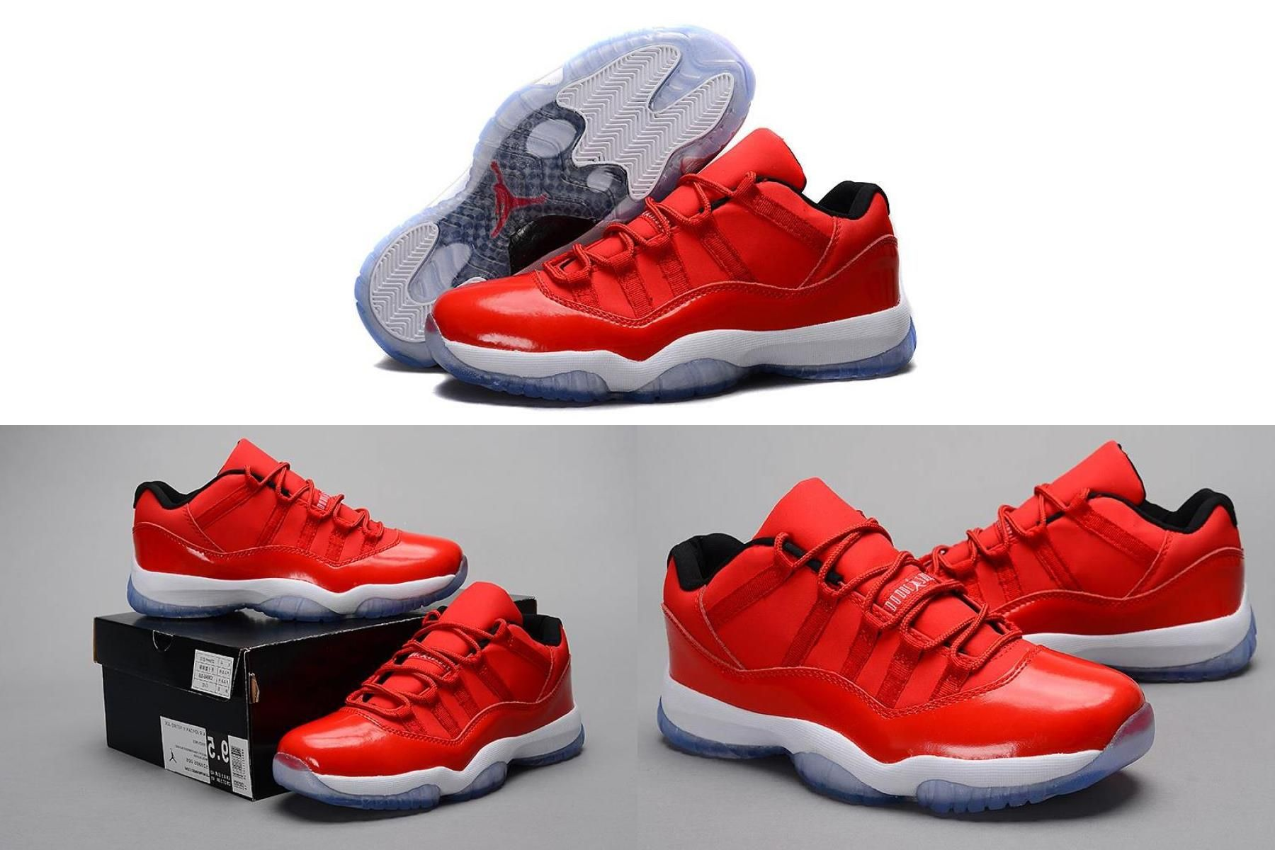 "Air Jordan 11 Retro Low ""red"" Pe Carmelo Anthony Red/White"