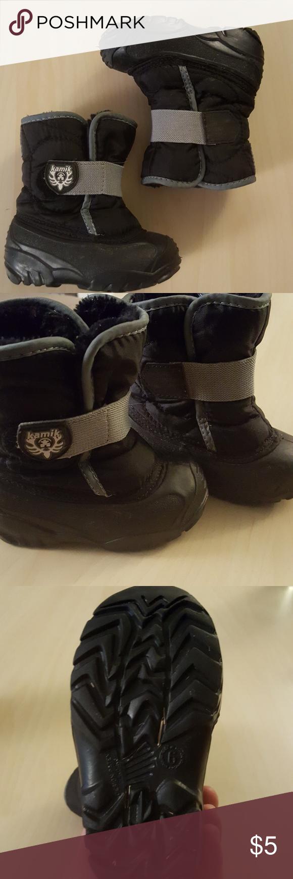 Kamik Toddler Snow Boots Size 6 Black