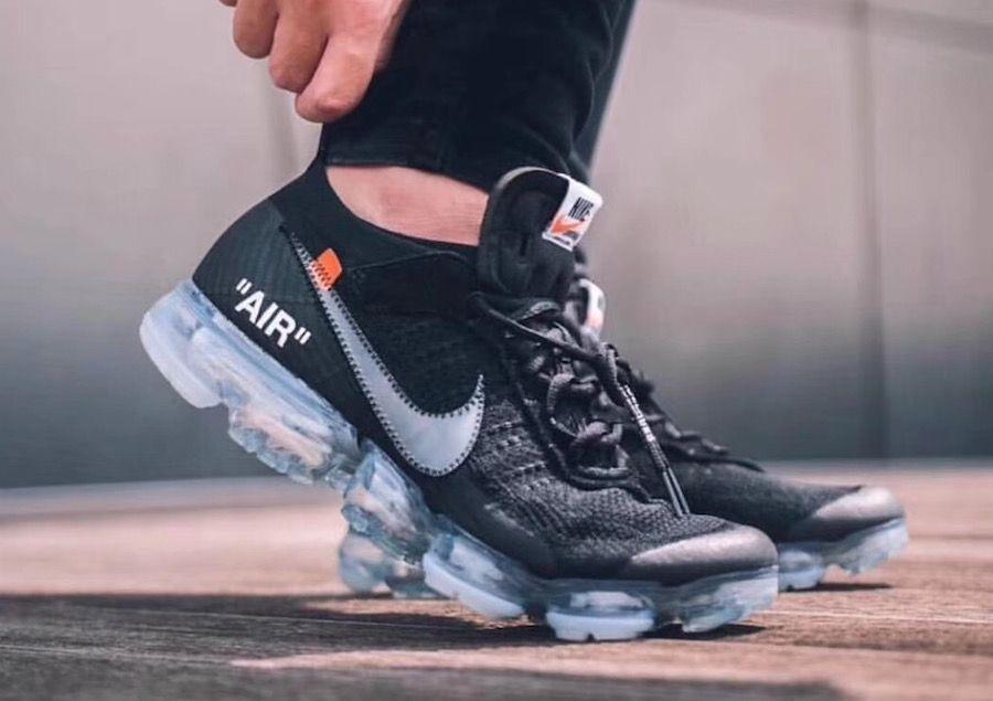 new style e936f 7ba7e An On-Feet Look At The Off-White x Nike Air VaporMax Black  Sneakers