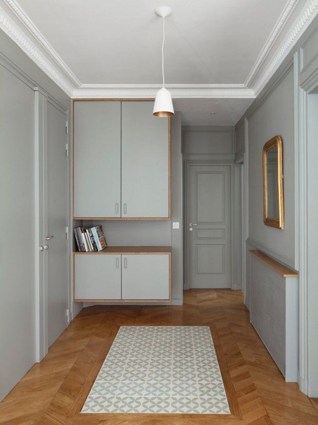 Murs gris bicolores Interior Design Pinterest Entrees, Salons - comment fixer un meuble au mur