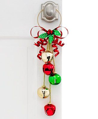 Bell Decoration Fascinating All The Trimmings Multicolor Jingle Bell Doorknob Hanger Decorating Design
