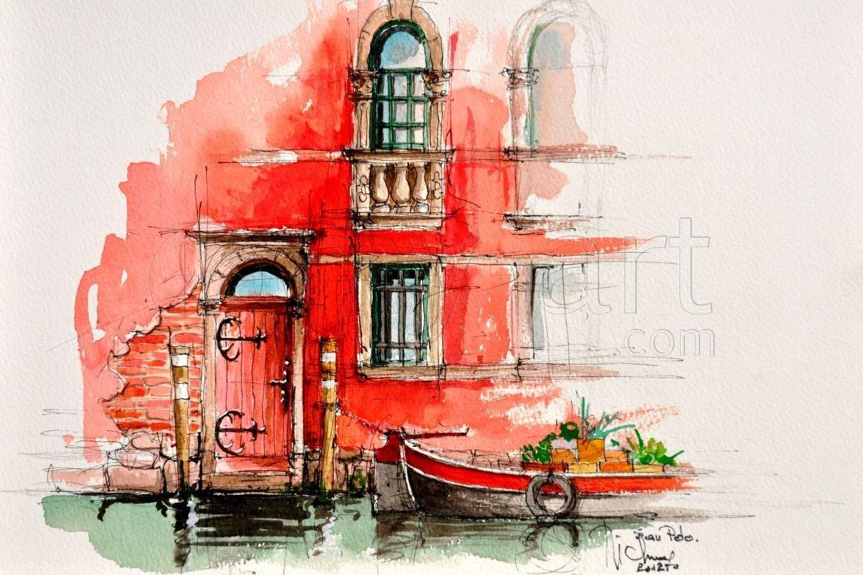 Venise Souvenir 5 Art Of My Heart Tableau Peinture Peinture