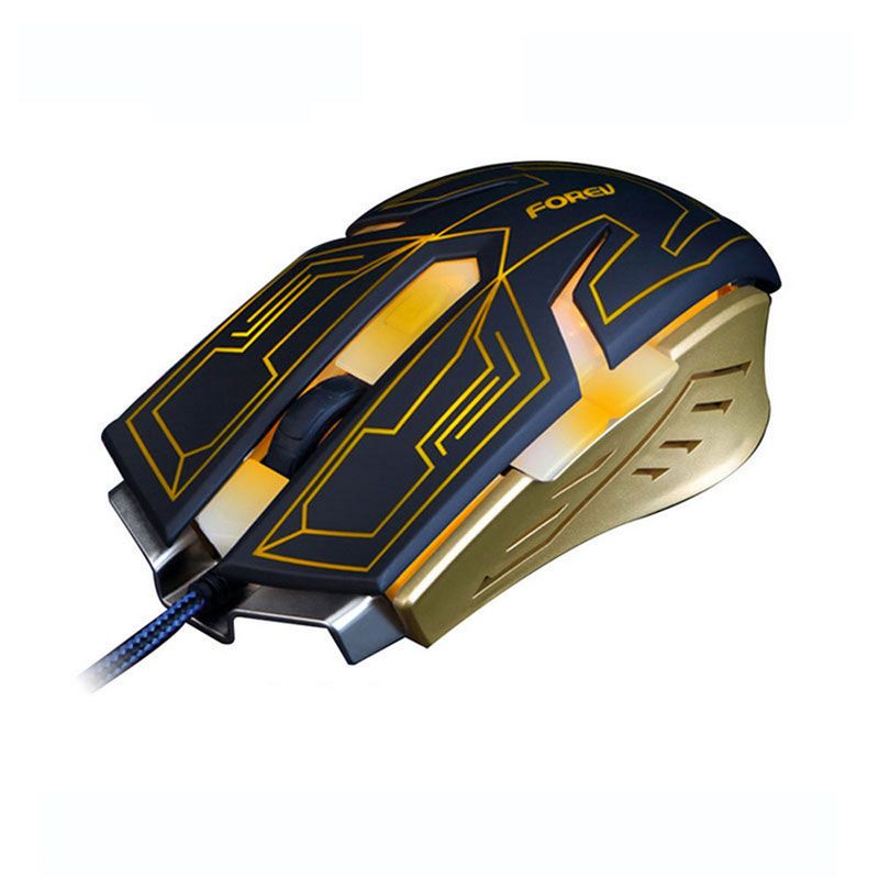 FORVE New FV-ST6 Turn the Light Gaming Wired Mouse For LOL
