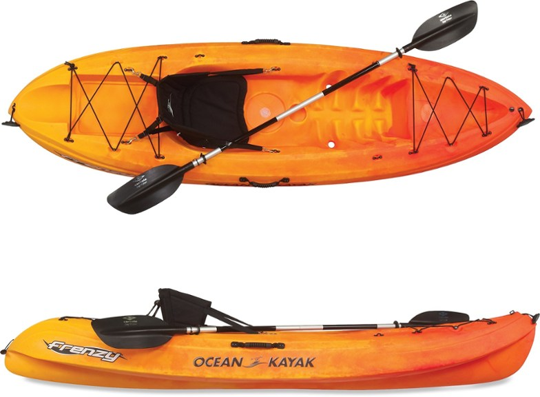 Photo of Ocean Kayak Frenzy Sit-On-Top Kayak with Paddle | REI Co-op