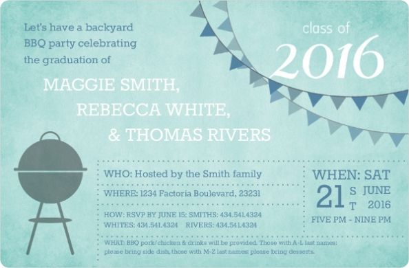 Graduation Invitation Wording With Some Additional