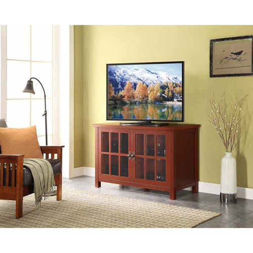 red TV stand and console from Walmart ($169.00) to be used as a buffet. Can display nice serving dishes or my tea sets
