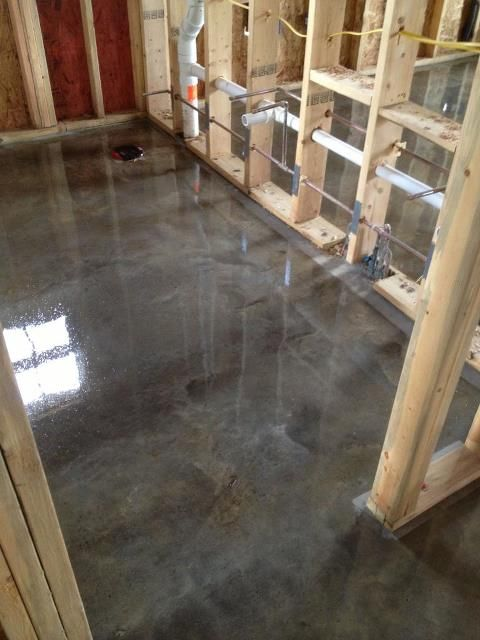 I think i want to do nice stained concrete flooring in my for Mop for concrete floors