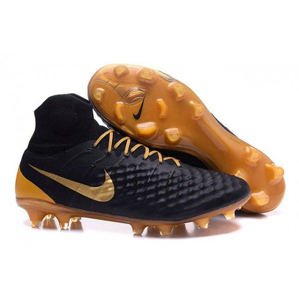 the best attitude 28c5a 119c9 2017 Chaussures de Football Nike Magista Obra II FG Noir Or