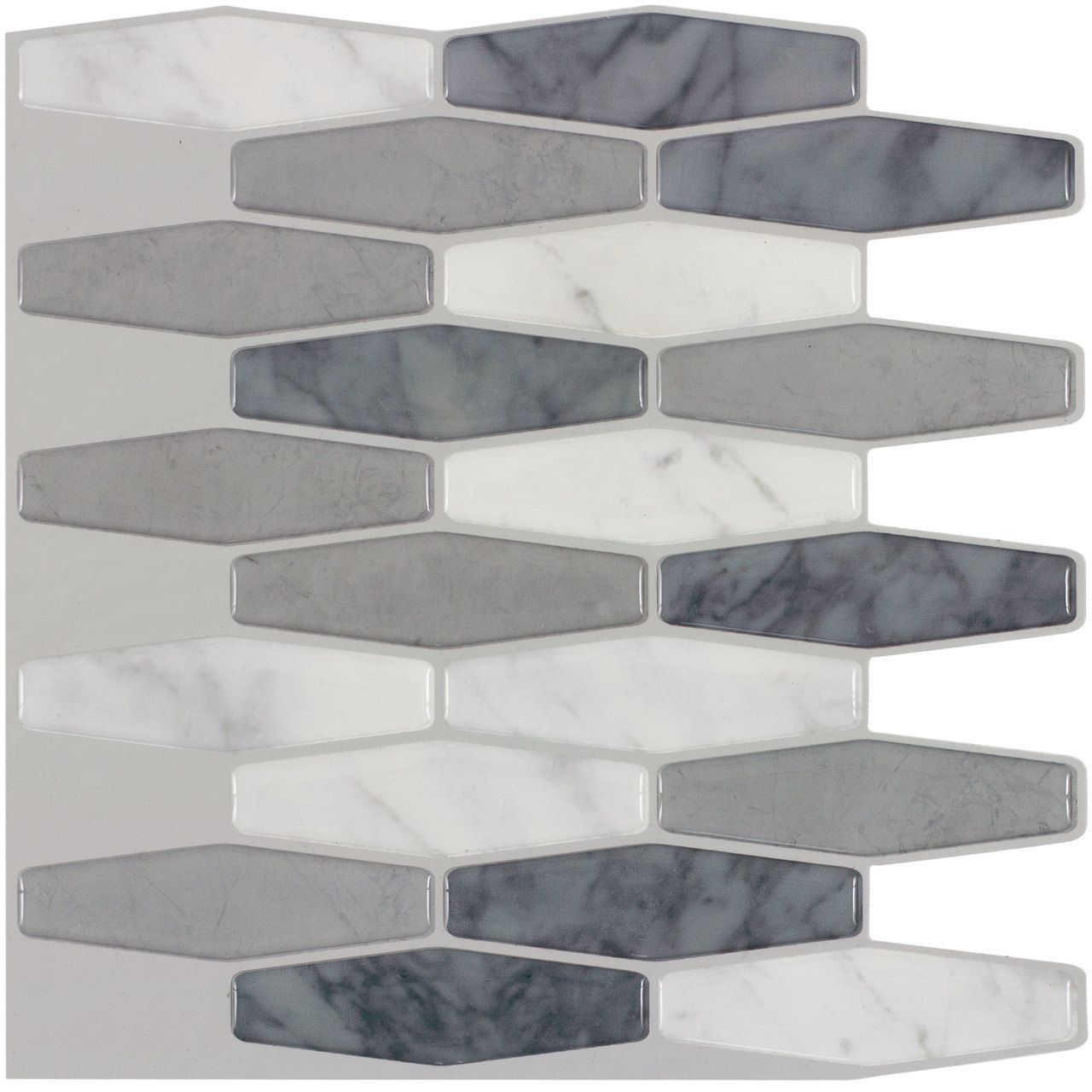 White Marble Peel & Stick Wall Tile | Pinterest | White marble ...