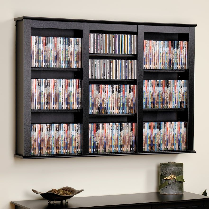 Prepac Large Wall Mounted Media Shelf Wall Mounted Storage Shelves Floating Wall Prepac