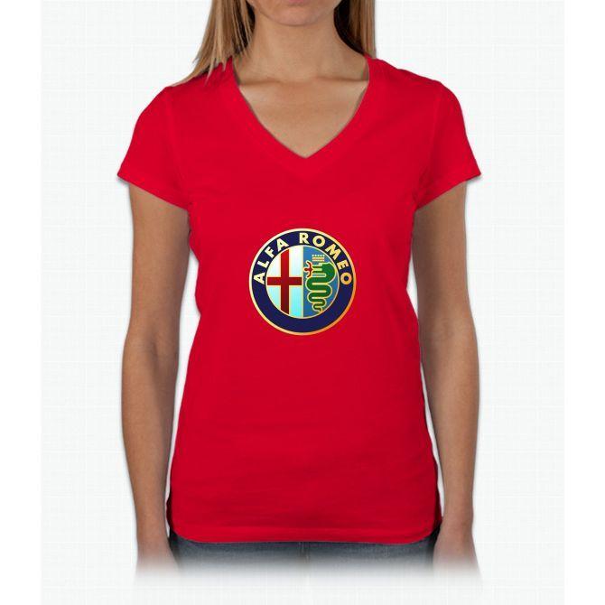 Alfa Romeo Merchandise Womens VNeck TShirt Products Pinterest - Alfa romeo merchandise