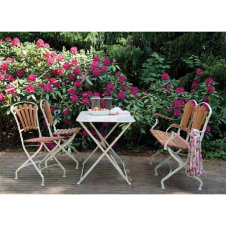 Salon de jardin romantique et design à la fois... Fer anti-corrosion ...