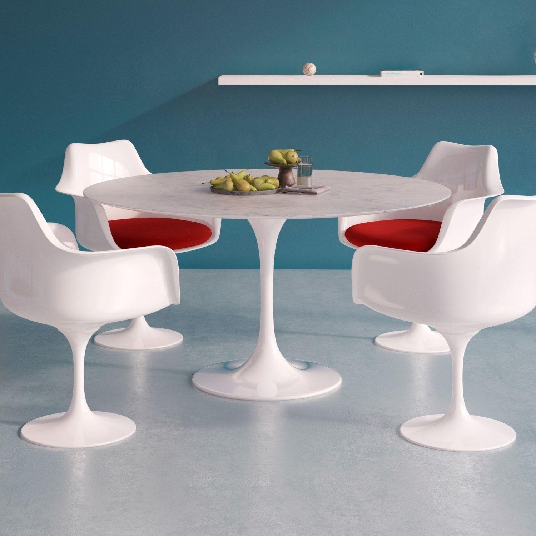 Aeon Furniture Catalan Italian Carrera Marble 54-inch Round Dining ...