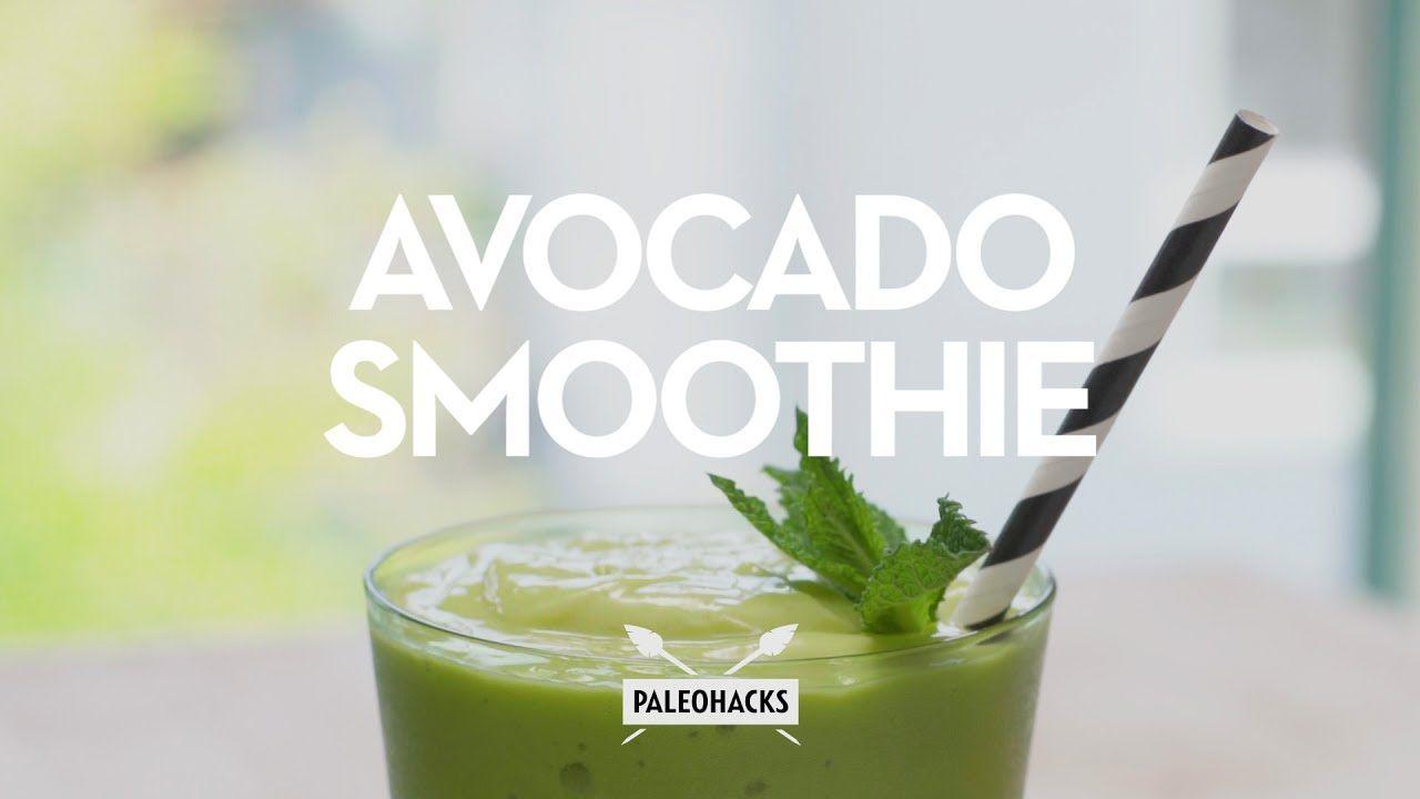Avocado Smoothie Paleo Recipe YouTube Avocado
