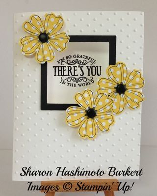 As The Ink Dries: Stampin' Up! Flower Shop window card