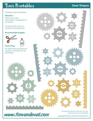 Gear Templates | Printable Sticker Sheets | Pinterest | Template ...