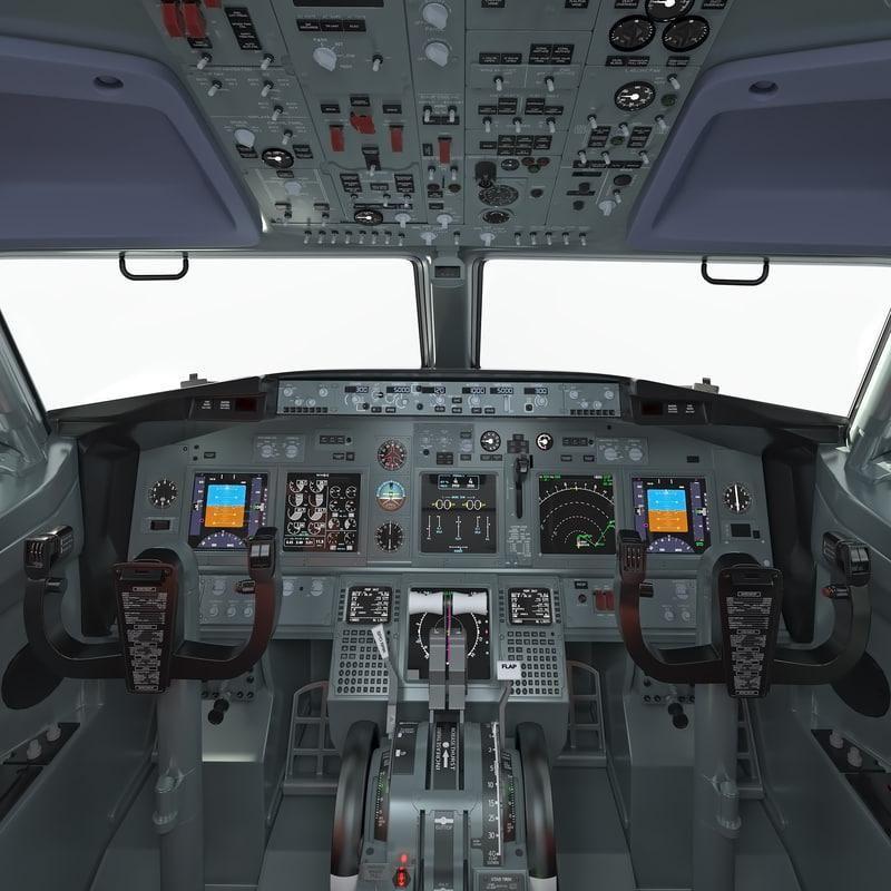 Boeing 737 Cockpit 3d Model Ad Boeing Model Cockpit Boeing