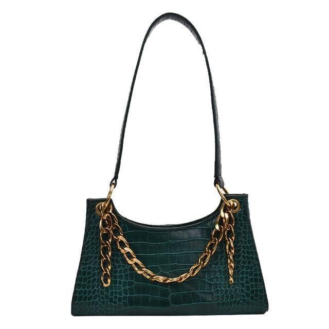 Petit sac baguette vintage avec chaîne ou perle