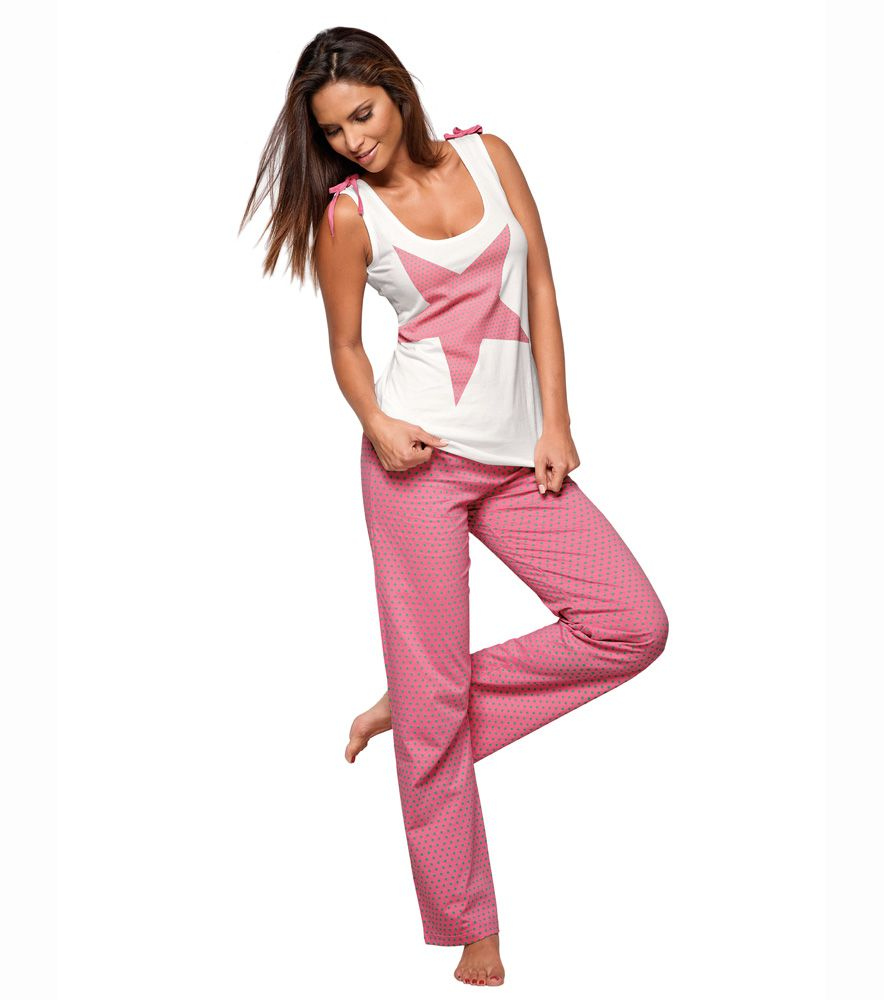6ce82066f48d Pijama 2 piezas mujer 100% algodón   PARA DORMIR   Pijamas mujer ...