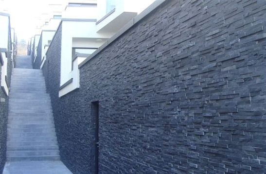 Black slate cladding 04 black slate cladding exterior stone cladding pinterest cladding for Exterior stone cladding panels