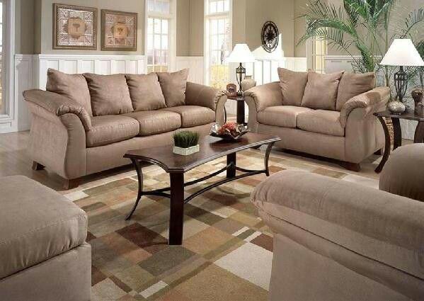 8100 Mocha Sofa And Loveseat Set