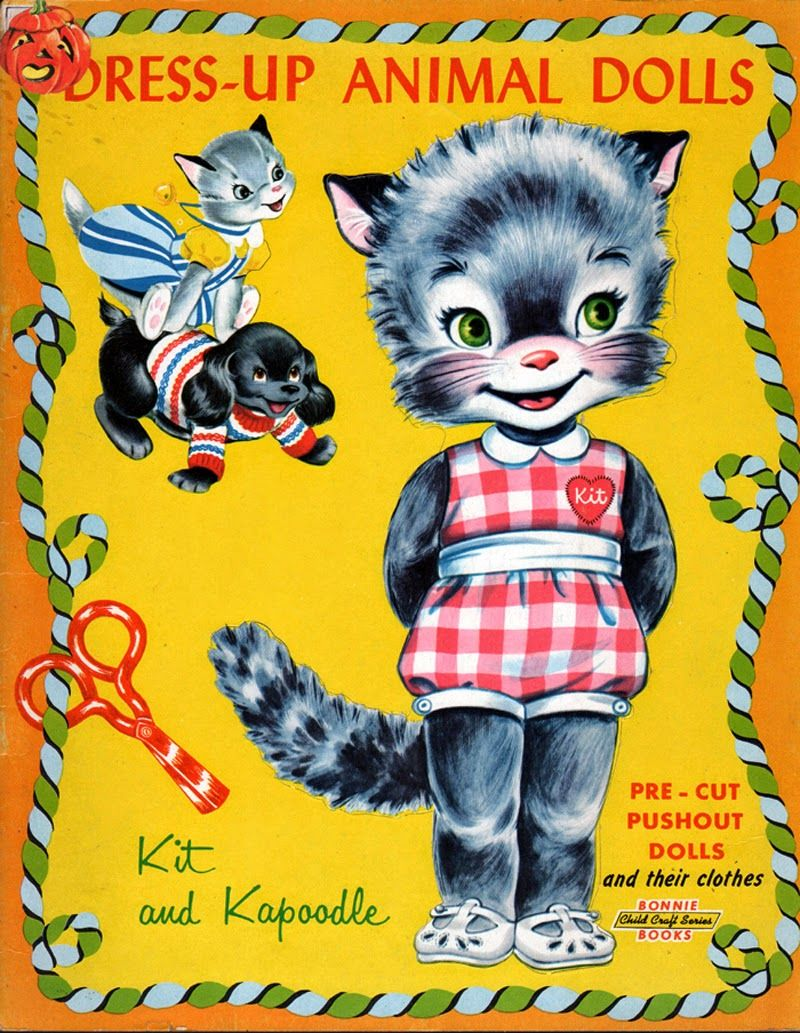 Dress Up Animal Paper Dolls Kit And Kapoodle Kathleen Taylor S Dakota Dreams This Is Kit And 6 Pages O Paper Dolls Animal Dolls Vintage Paper Dolls
