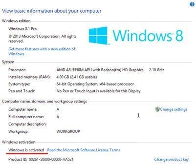 acer product key windows 10