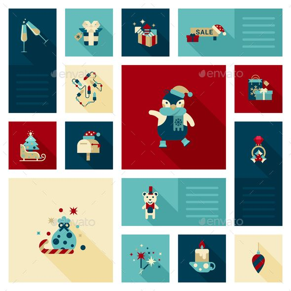 Christmas Decoration Elements — JPG Image #icons #vector • Available here → https://graphicriver.net/item/christmas-decoration-elements/9456333?ref=pxcr