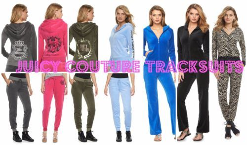 Clothing, Shoes & Accessories Tracksuits & Sets Nwt Juicy Couture Tracksuit Velour Embellished Jacket Boot Cut Pants Women Sz Xl