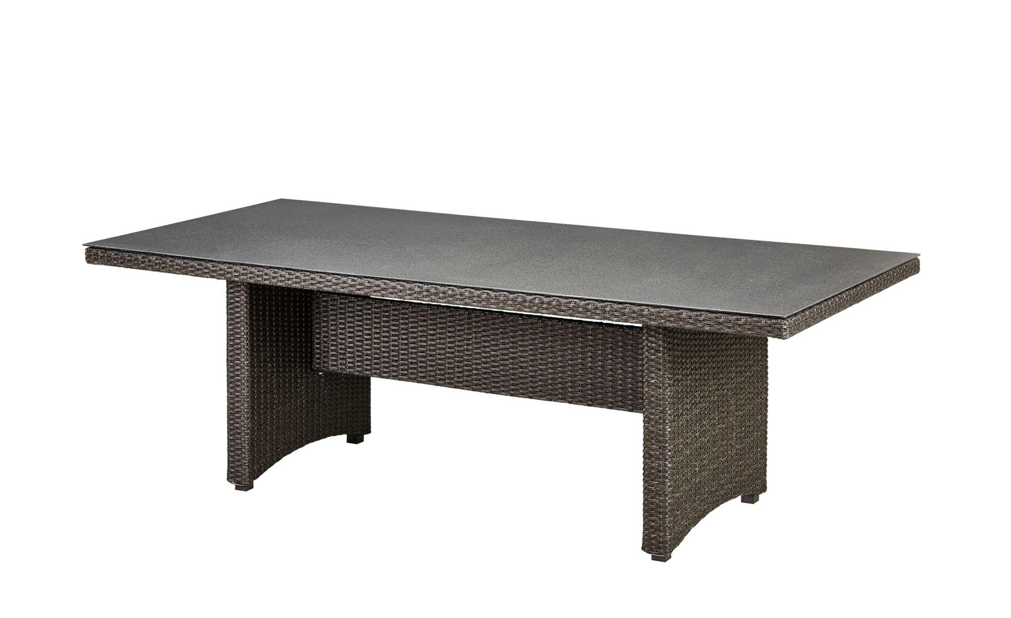 a casa mia Dining-Tisch Padua - grau - Aluminium pulverbeschichtet ...