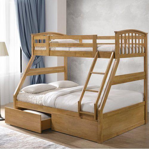 Ennis Triple Sleeper Bunk Bed With Storage Just Kids Colour Oak