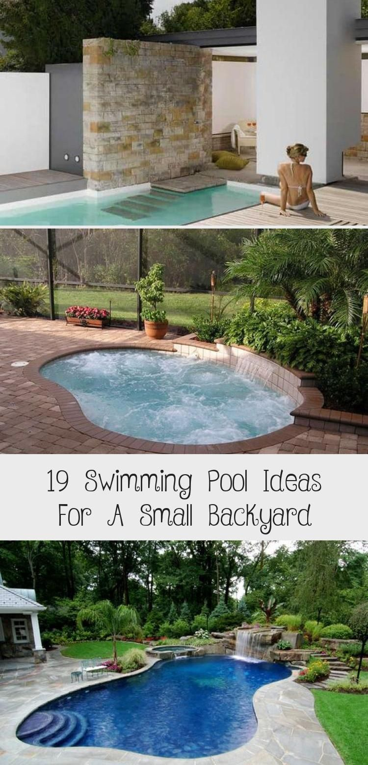 19 Swimming Pool Ideas For A Small Backyard 13 Poollandscapingflorida Poollandscapingfence Tropica Small Backyard Swimming Pools Tropical Pool Landscaping