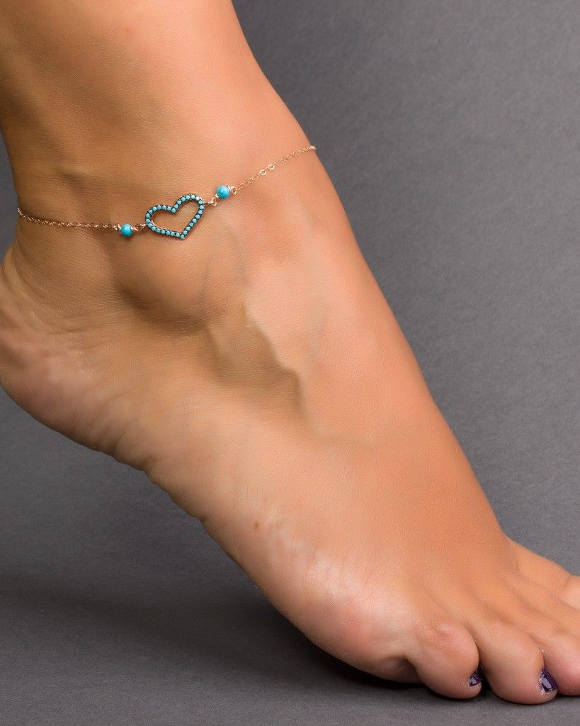 bracelets for and turquoise wishbone sideways sybaris ankle good olizz luck gold women anklet bracelet