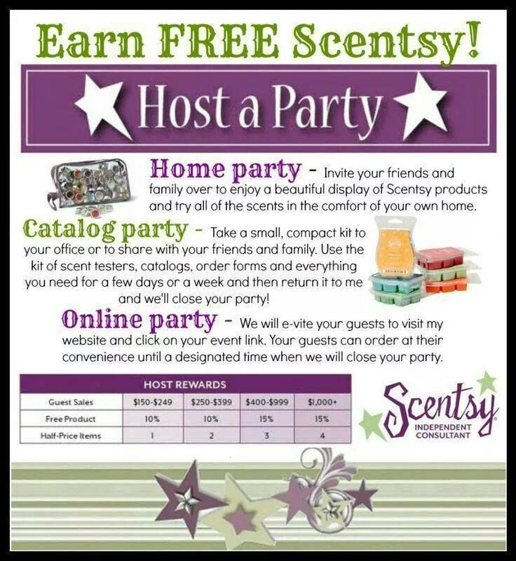 Host A Scentsy Party Contact Me On Facebook Or On My Website For