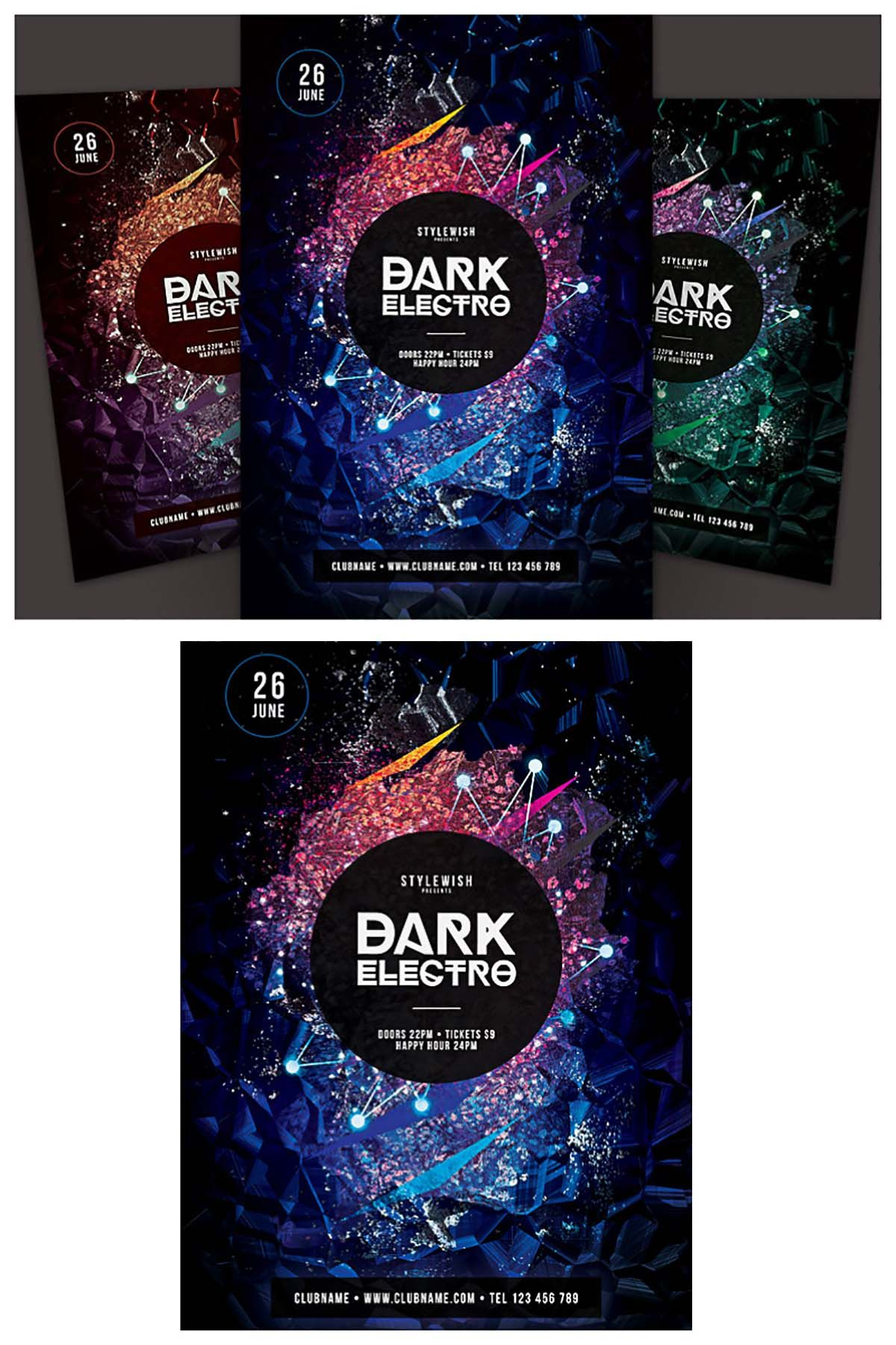 Poster design software free download - Dark Electro Party Poster Set