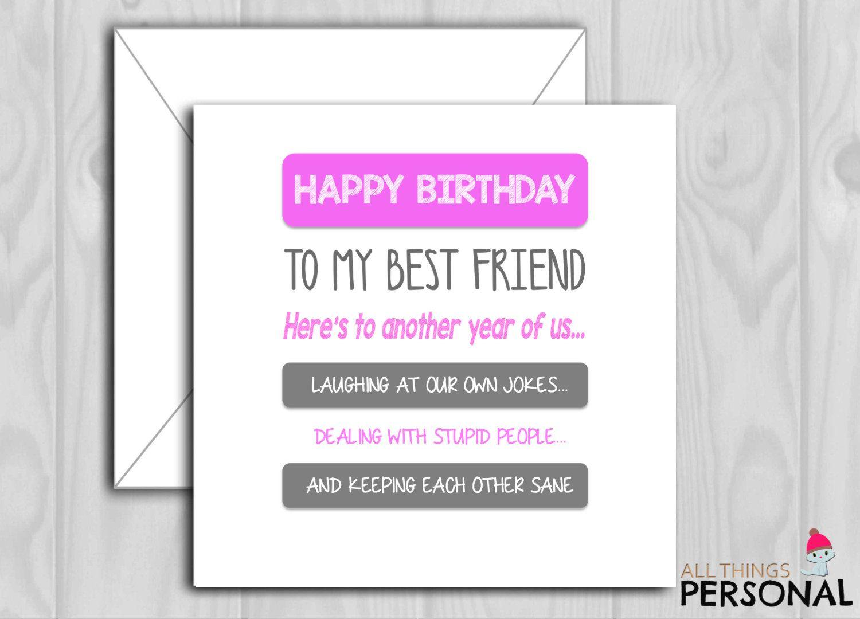Best Friends Birthday Card Handmade Best Friend Birthday Etsy Best Friend Birthday Best Friend Birthday Cards Birthday Cards For Friends