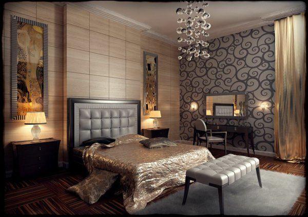 Art Deco Stil Seide Bettwäsche Bett