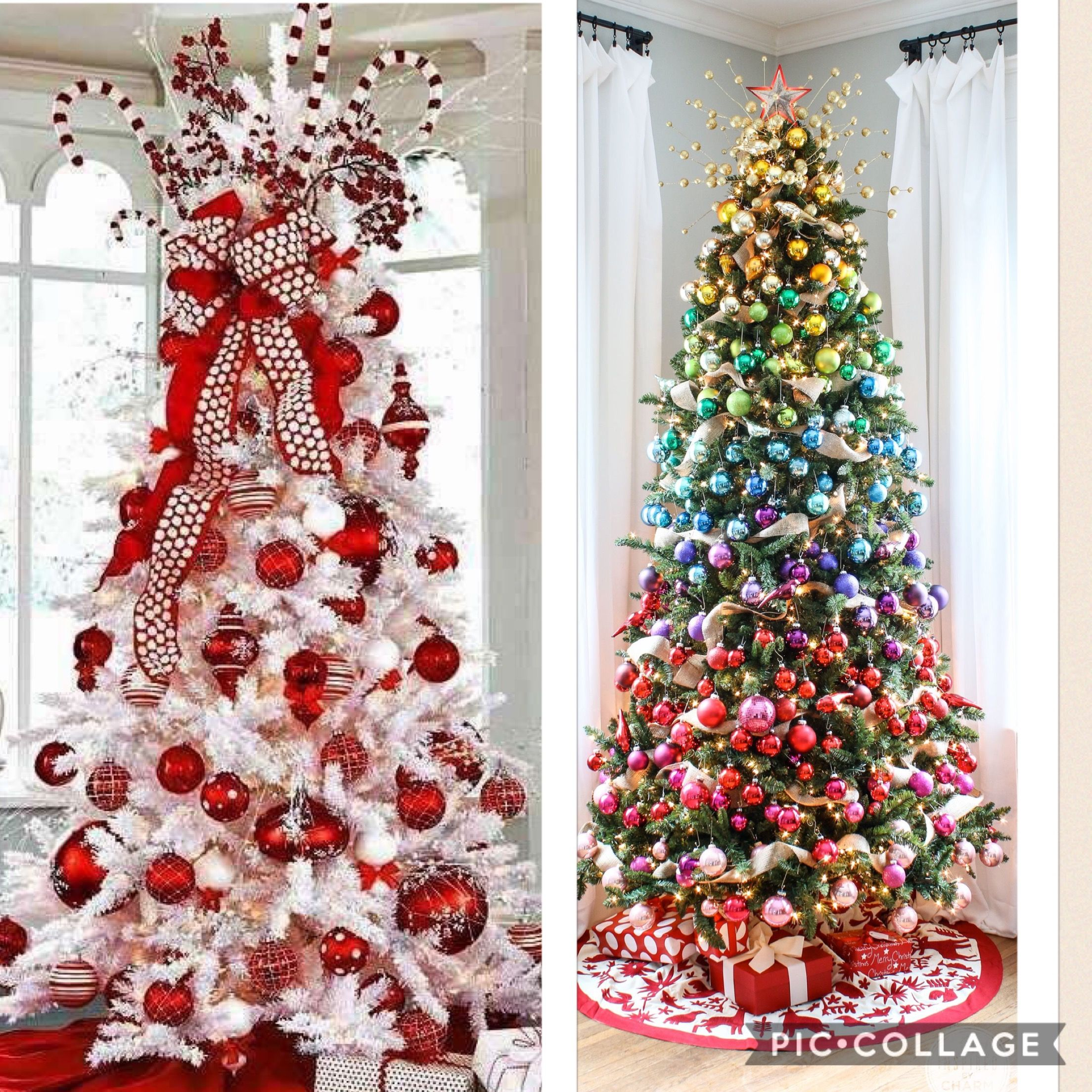 How To Decorate A Christmas Tree With Balls Uncluttered Tree Vs Cluttered Tree Few Balls Vs All Balls Simple