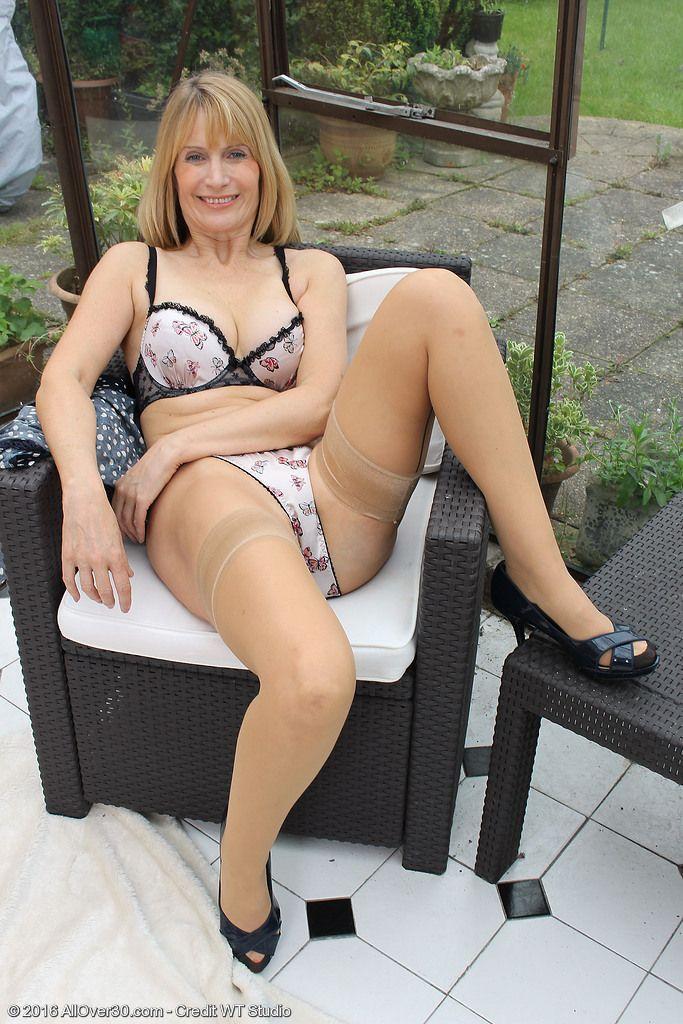 Mature blonde legs