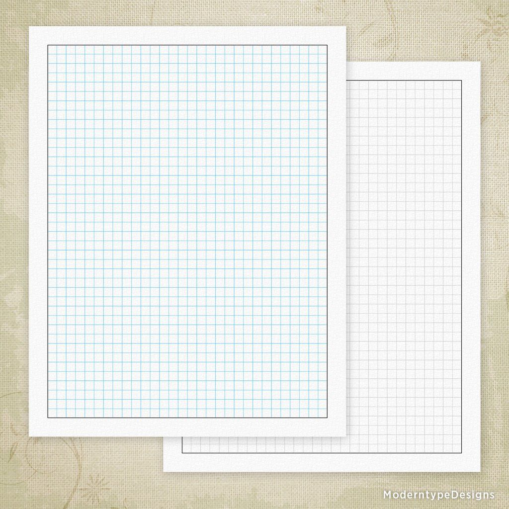 Regular Square Grid Digital Paper Printable Printable Graph