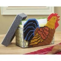 Craftways 174 Rooster Recipe Box Plastic Canvas Kit Plastic